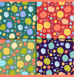 Seamless colorful pattern set with circles vector