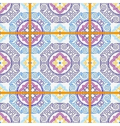 Seamless pattern from tiles vector