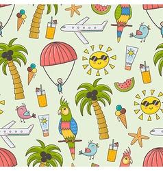 Summer vacation seamless pattern vector
