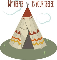 Teepee home vector