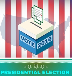 Voting Box and Ballot USA Election 2016 vector image