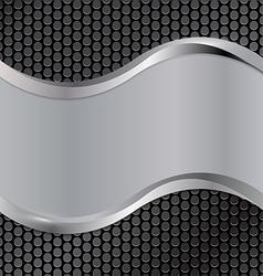 wave silver black vector image