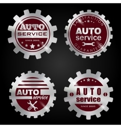 Auto service badges vector