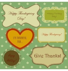 Set of thanksgiving banners and simple patterns vector