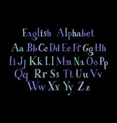 Vintage alphabet vector