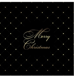 Golden Christmas pattern vector image