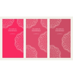 Set of invitation card vector