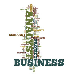 Techniques available to business analyst text vector