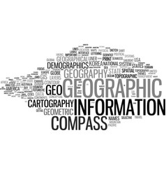 Geographic word cloud concept vector