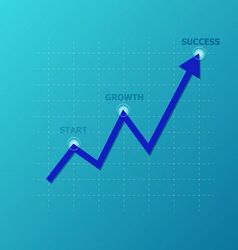 Line graph on the grid vector image