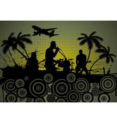 Grunge music vector