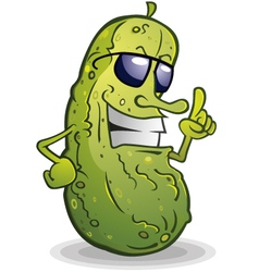 Pickle Cartoon With Attitude vector image