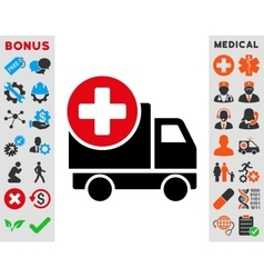 Medical delivery icon vector