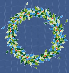 Simple holiday wreath vector