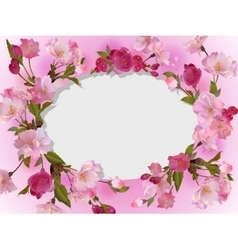 Spring flowers horizontal background vector