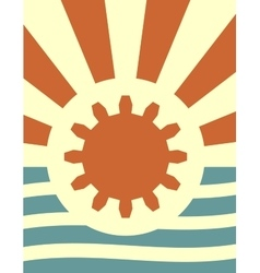 Sun rays backdrop with gear and wrench icon vector