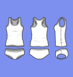 Fashion underwear set vector