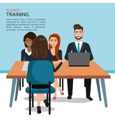 Business training design vector