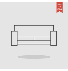 Sofa icons modern design flat style icon vector