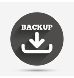 Backup date sign icon storage symbol vector