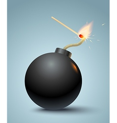 bomb black vector image vector image