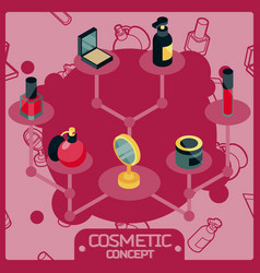cosmetic color isometric concept icons vector image vector image