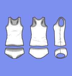 Fashion underwear set vector