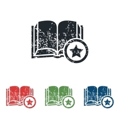 Favorite book grunge icon set vector