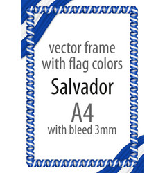 flag v12 salvador vector image vector image
