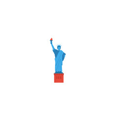 flat icon statue of liberty element vector image