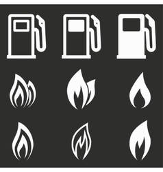Fuel icon set vector image vector image