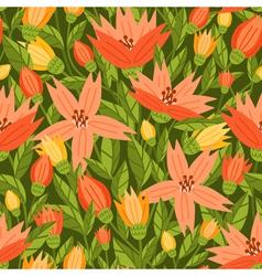 Garden flowers pattern vector image vector image