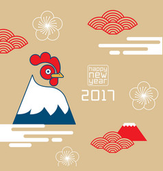 Happy new year rooster 2017chinese new year vector