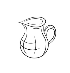 Jug on a white background vector image vector image
