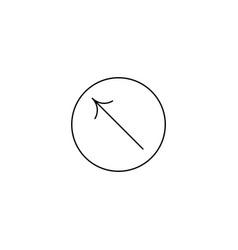 left up arrow icon vector image