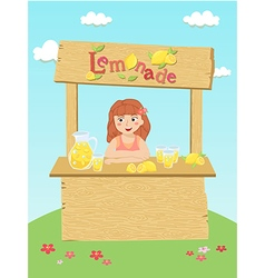 Lemonade girl cartoon vector