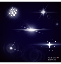 Light optical lens flares vector