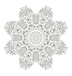 Mandala zentangl coloring round ornament relax vector
