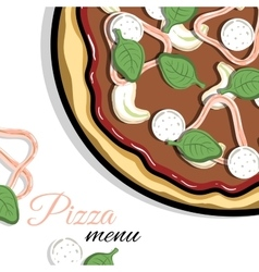 Menu For Pizzeria 2 vector image