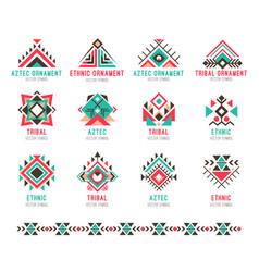 native tribal pattern set vector image vector image