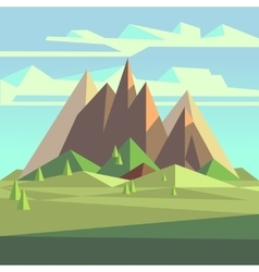 Origami landscape in 3d low poly style with vector image vector image