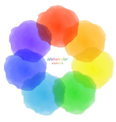 rainbow watercolor blotch set of rainbow vector image
