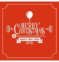 Red Christmas Greeting Card Background vector image