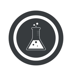 Round black conical flask sign vector