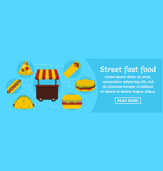 street fast food banner horizontal concept vector image vector image