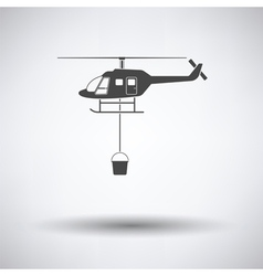 Fire service helicopter icon vector