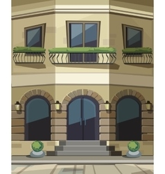 Shop Restaurant Cafe Store Front with Big Windows vector image