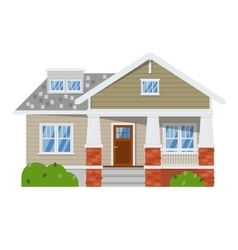Family house isolated on white background vector