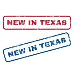 New in texas rubber stamps vector