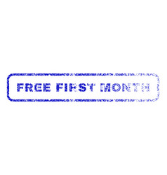free first month rubber stamp vector image